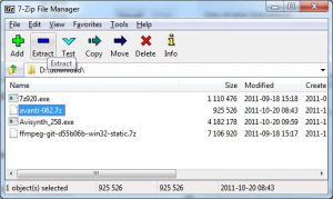 7Zip file manager