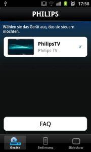 Philips MyRemote - Gerätewahl