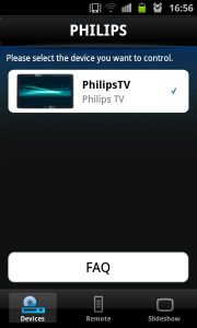 Philips MyRemote - device selection
