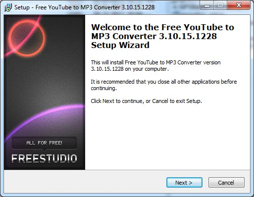 Howto install free youtube to mp3 converter