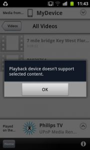Philips MyRemote 2 - Playback error