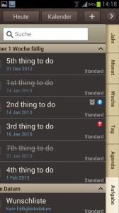 Aufgaben im S Planner