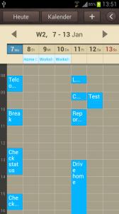 Samsung Galaxy S3 Kalender