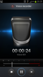Voice recorder Samsung Galaxy S3