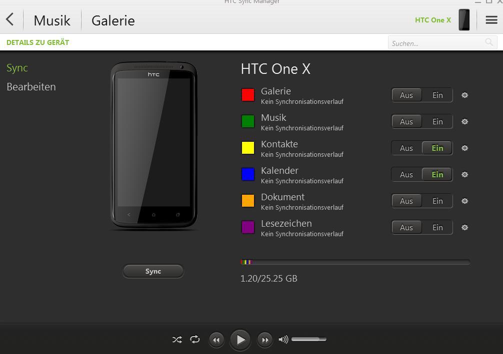 HTC One X mit Outlook synchronisieren