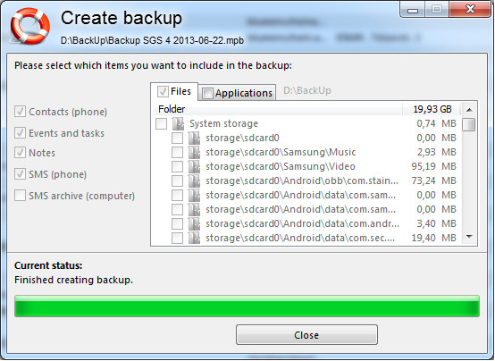 Android Backup Programme im Test – MyPhoneExplorer Client Testbericht