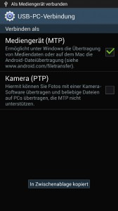 Samsung Galaxy S4 - Mediengerät MTP