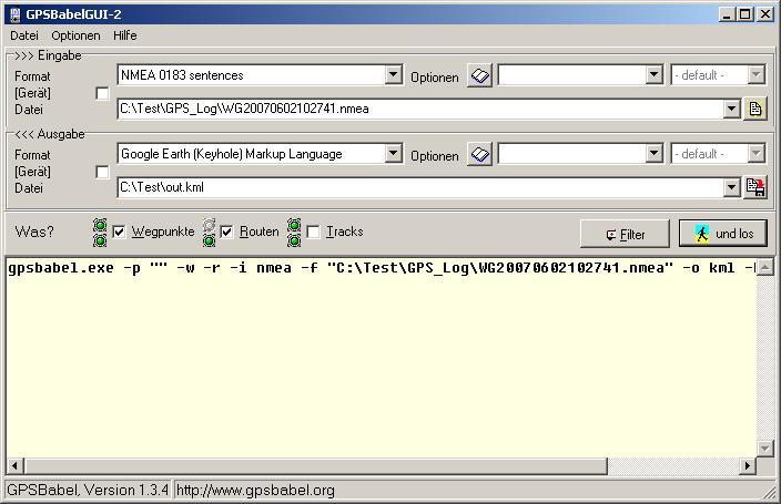 Gps-Babel – GPS Konverterprogramm