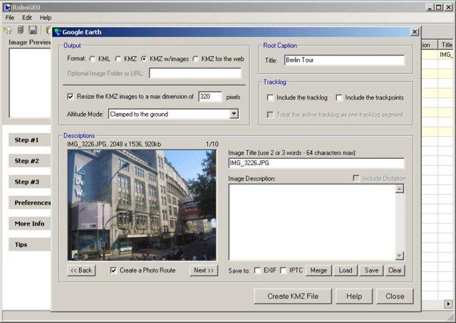 Robo-Geo – GPS Konverter und Bilder tagging Programm