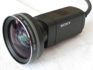 Sony hxr-mc1p mit Weitwinkel Linse