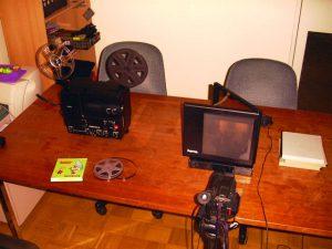 Super8 Projektor mit Mattscheibe