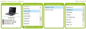 Acer Aspire One D250 SATA Treiber