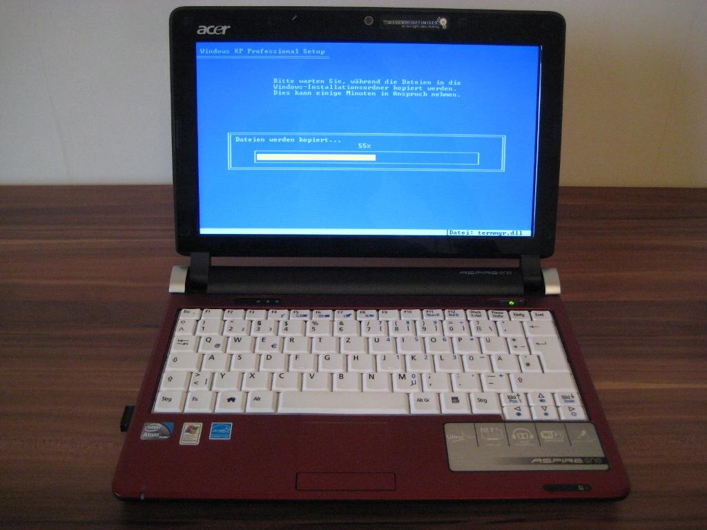 Netbook Acer Aspire One D250 Win Xp Installationsanleitung