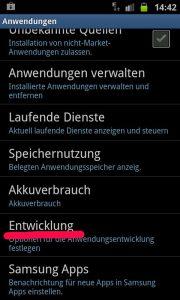 Android Anwendung - Debugging aktivieren