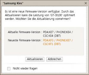 Firmeware Update - Kies