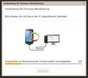 Firmeware Update - Kies Vorbereitung für Firmeware-Aktualisierung