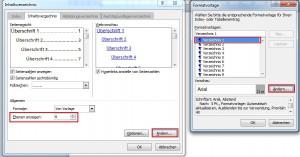Inhaltsverzeichnis formatieren