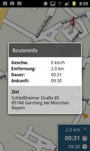 Skobbler - Routeninfo