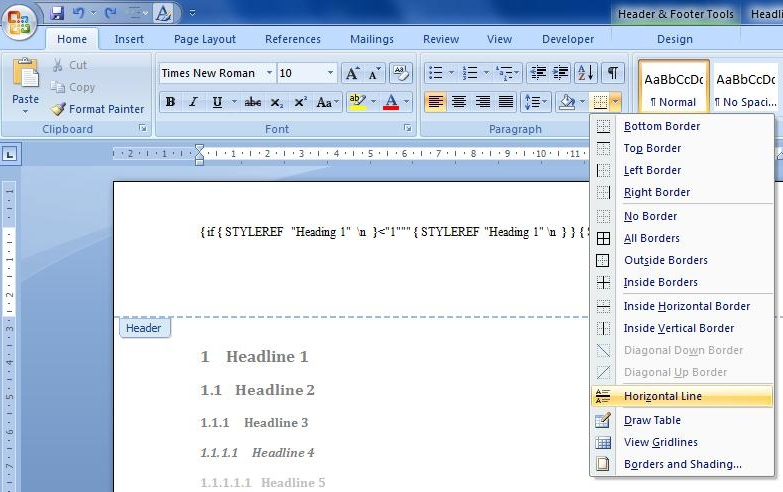 how to make page horizontal in word