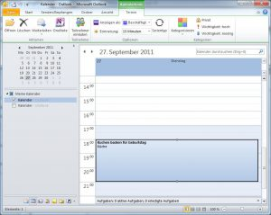 Outlook 2010 Kalender Eintrag aus Galaxy S 2