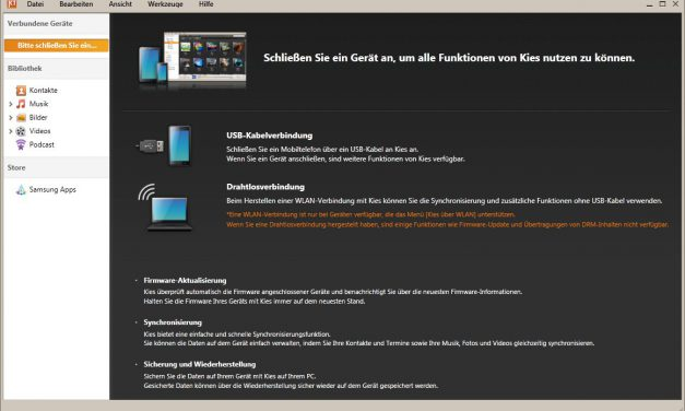Samsung Kies – Outlook 2010 sync