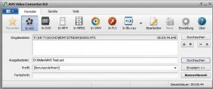 AVS Video Converter 8.0 Selection Screen