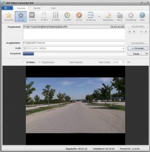AVS Video Converter 8.0 Umwandlung