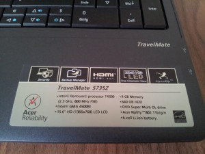 Acer 5735Z - Ausstattung