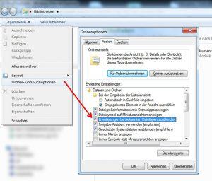 Dateiendung einblenden unter Windows 7