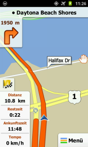 iGo My Way Android - Daytona Beach Shores 3D view