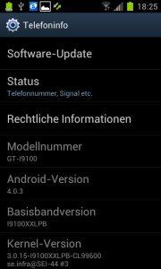 Samsung Galaxy S2 - ICS 403 XXLPB