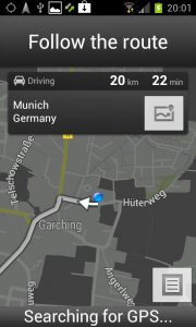 Android Ice Cream Sandwich - Follow the route