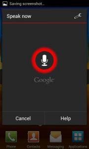 Android Ice Cream Sandwich - Speak now