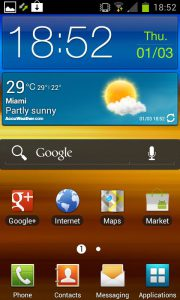 Android Ice Cream Sandwich - home screen