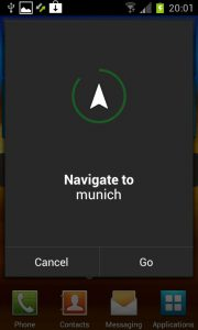 Android Ice Cream Sandwich - navigate to munich