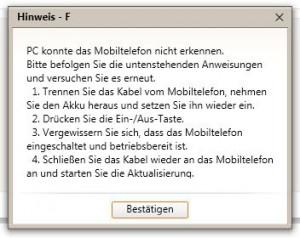 Samsung Kies - Galaxy S2 DBT Firmware Update Deutschland fehlerhaft