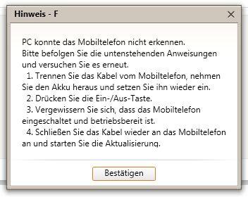 Samsung Galaxy S2 DBT – Kies Updatefehler