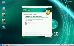 Willkommen bei Windows update - Kaspersky - Rescue Disk 10