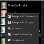 Samsung Galaxy S3 - list contacts by last name