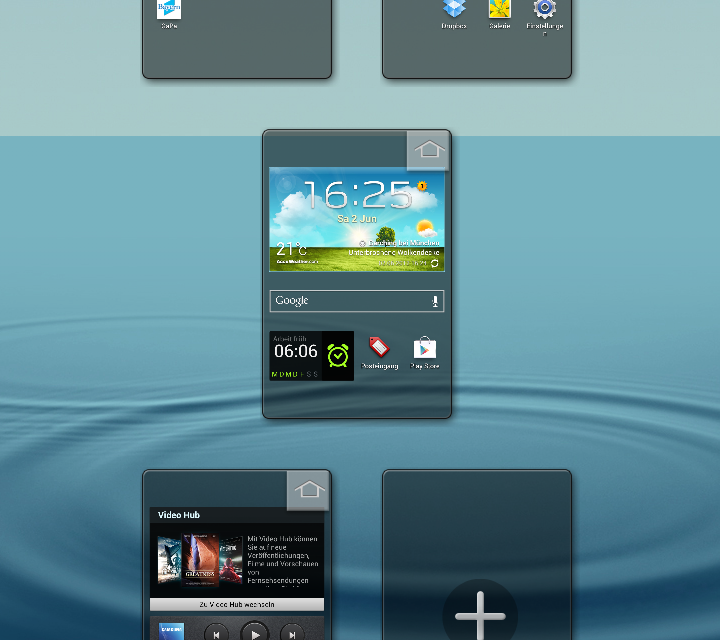 Samsung Galaxy S3 delete homescreens