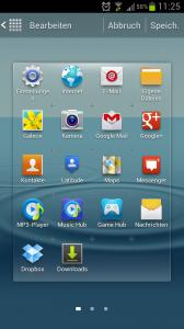 Galaxy S3 Menue Icon verschieben