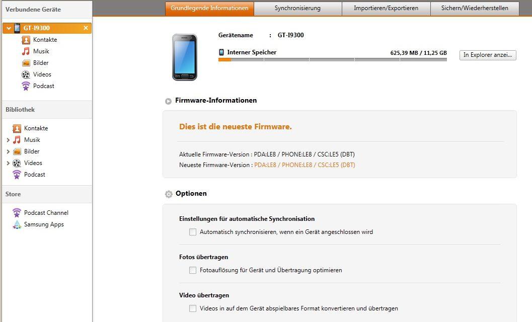Sincronización con Outlook a través de Samsung Galaxy S3 Kies