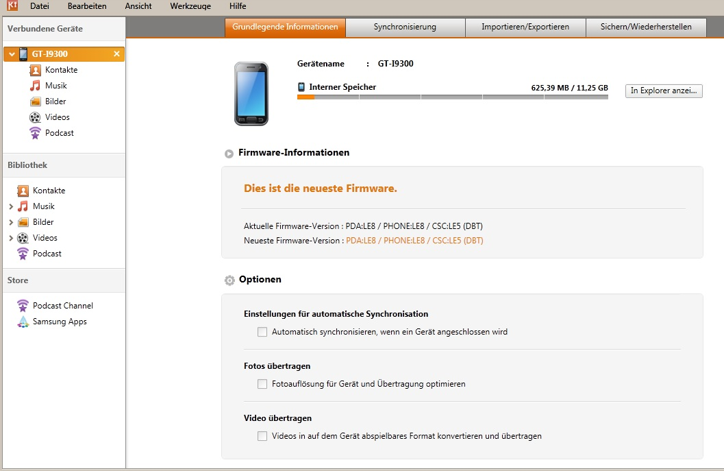 Sincronización con Outlook a través de Samsung Galaxy S3 Kies
