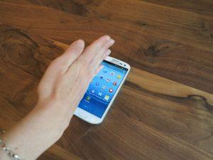 Galaxy S3 Screenshot mit Handkante wischen