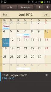 Galaxy S3 Synchronisieren mit mehreren Outlook Kalendern