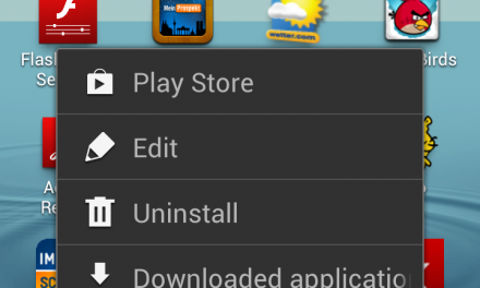 Samsung Galaxy S3 – move menu icon