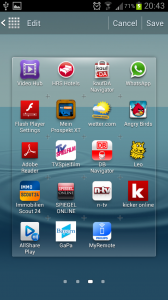 Galaxy S3 rearrange menu icon
