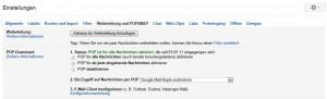 Gmail Einstellung E-Mail Galaxy S3