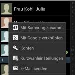 Kontakte nach Nachname / Vorname sortieren für Samsung Galaxy S3 mit Android 4.0