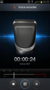Voice recorder Samsung Galaxy S3